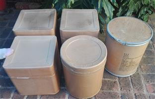 Thick cardboard containers, square or round for storage or to be creative and decorate self