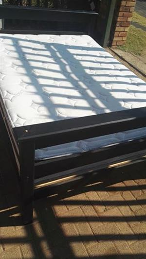 Edblo double bed with wooden base