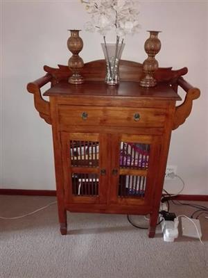 Bali style cabinet