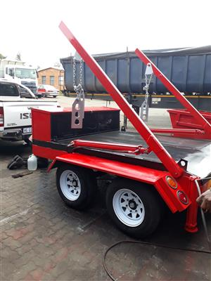 BEST QUALITY SKIP TRAILER WITH SKIP BIN AT AFFORDABLE PRICE