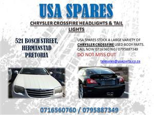 CHRYSLER CROSSFIRE HEADLIGHTS, TAIL LIGHTS AND BODY PANELS