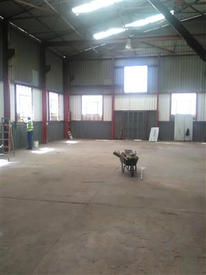 190m2 factory to let in Boksburg West