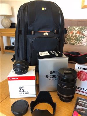 Canon EOS 700D Camera, 4 Lens Bundle with Bag and Accessories