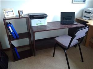 GREAT VALUE OFFICE / STUDY DESK,  FILING UNIT PLUS CHAIR