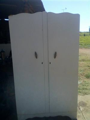 2 Door white wooden closet