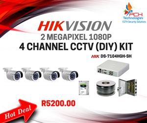 HIKVISION 4 CHANNEL 1080P CCTV (DIY) KIT