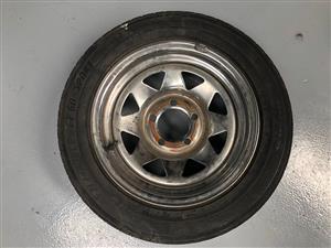 Rim & Tyre 5x112 PCD with 185/60/14