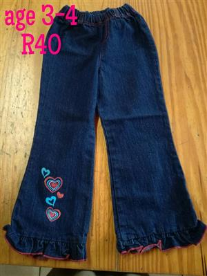 Dark blue heart pants
