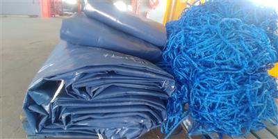 Heavy duty pvc truck covers / tarpaulins and cargo nets for super-link and tri_axle readily available