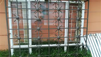 Steel window frame complete set