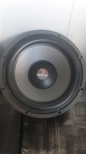"""FOCAL 13"""" Polyglass Subwoofer. 400w RMS. In Mint Condition."""