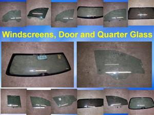 Windscreens, door glass and quarter glass for sale.