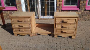 2 Drawer wooden dresser stand