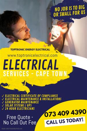 Electrical Contractor Cape Town - Well Established