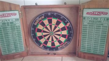Dartboard with cupboard for sale
