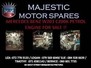 MERCEDES BENZ W203 C200K MANUAL PETROL ENGINE