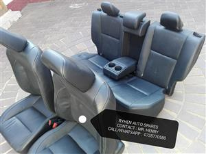 A SET OF TOYOTA PRESTIGE LEATHER SEATS, FITS IN TOYOTA COROLLA/PROFESSIONAL.