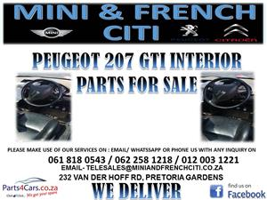 PEUGEOT 207 GTI INTERIOR PARTS FOR SALE