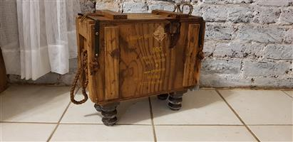 Authentic Ammo Box Tables and Storage Boxes