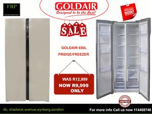 Goldair 650L fridge for sale