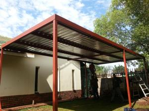 Soshanguve steel carports for new installation ,repairs of roofs down pipes and gutters for more information contact 0663478429