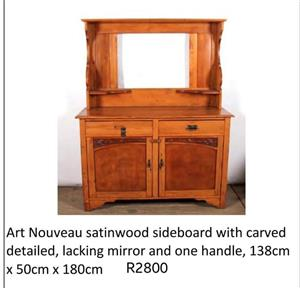 Art Nouveau satinwood sideboard