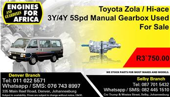 Toyota Zola / Hi-ace 3Y/4Y 5Spd Manual Gearbox Used For Sale.