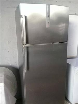 Large stainless steel bosch fridge & freezer in excellent condition