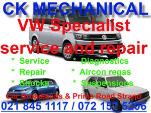 VW service and repair Specialist available.