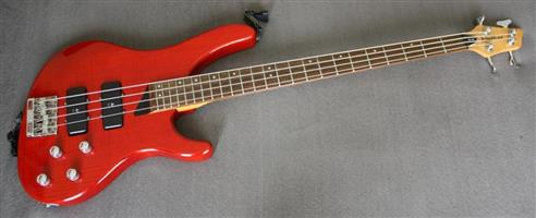 Wasburn XB400 Bantam Bass Guitar - Stunning Translucent Red Finish