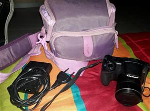 Canon PowerShot SX410 IS camera with bag