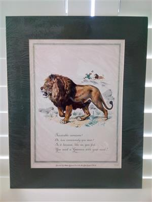 Guinness 'The Lion' Genuine Print Circa: 1952 by Artist: C.F Tunicliffe