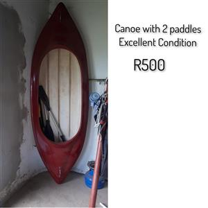 Canoe with 2 Paddles