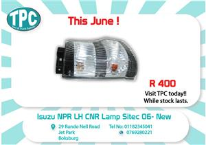 Isuzu NPR LH CNR Lamp Sitec 06- New for Sale at TPC