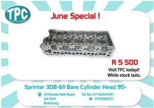 Mercedes Benz Sprinter 308/611 Bare Cylinder Head 95- New for Sale at TPC