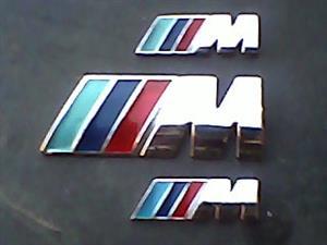 BMW M-Sport OEM Metal Badges