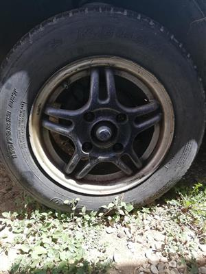 """13"""" wheels and tyres nissan 1400"""