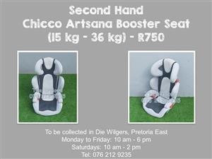 Second Hand Chicco Artsana Booster Seat (15 kg - 36 kg)