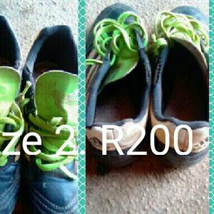 soccer boots size 2.Addidas