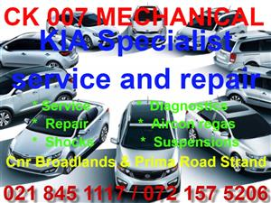 Kia service and repair Specialist available.