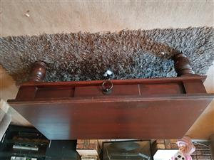 Large brown coffee table