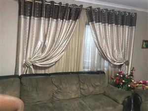Black and silver curtains for sale