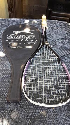 Pink and black slazenger tennis racket