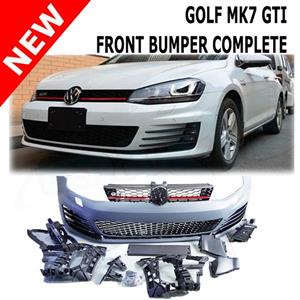Golf 7 Front bumper complete with grill. Brackets and lower grills