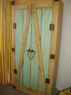 Special! (RS 123) Strong Rustic Linen Cabinet. Was R6995 Now Only R5995! Excellent Value. First Come First Serve