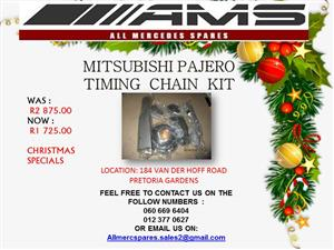 CHRISTMAS SPECIALS !!! MITSUBISHI PAJERO TIMING CHAIN KIT FOR SALE (SINGLE)