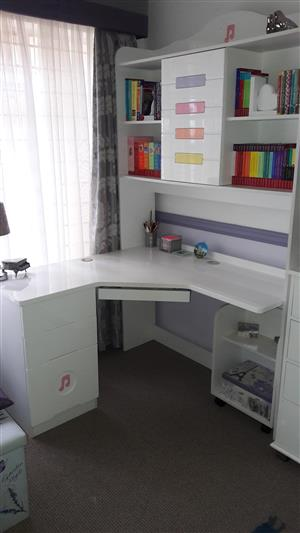 Desk with bookcase for sale