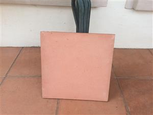 Patio floor tiles. Terracotta. 500 x 500. 24 available.