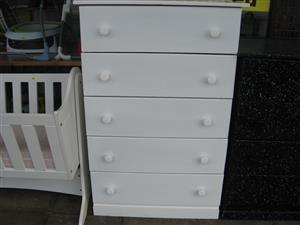Chest of Drawers NEW – White,  Brown, Grey and Black