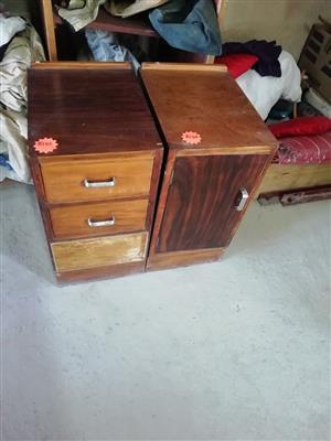 Wooden bedside drawers